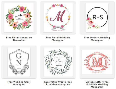 How to make your own monogram: 5 free online monogram