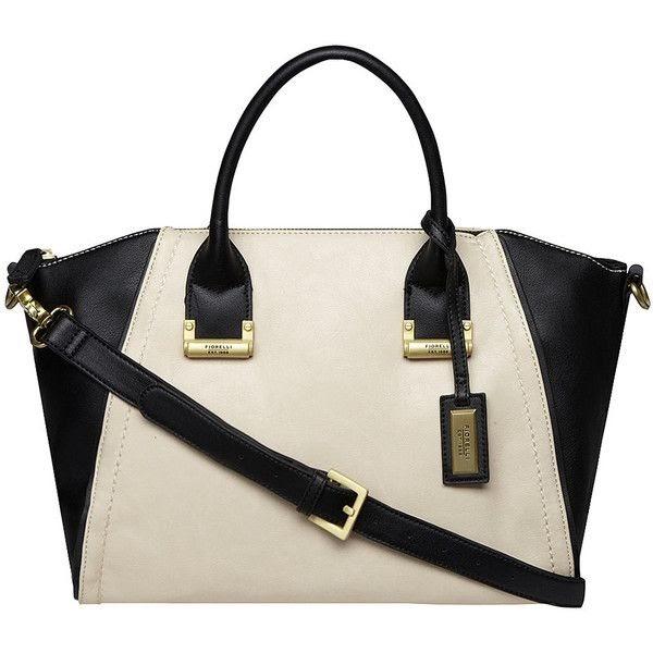 Fiorelli Mia Black And Cream Mono Stripe Faux Leather Medium Grab Shoulder Bag