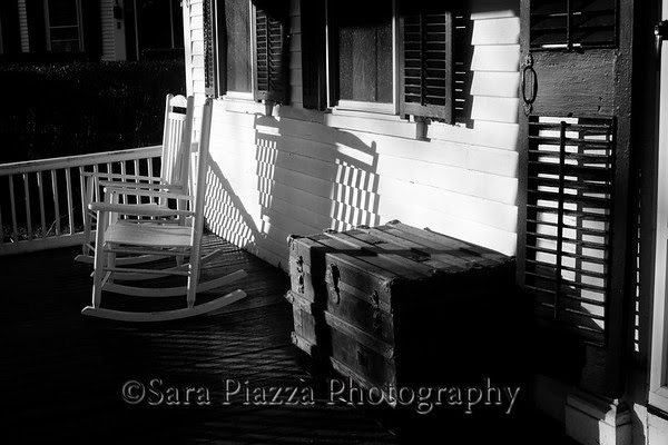 Edgartown News, Old Whaling Church, Edgartown Wood Shop, Porch Shadows