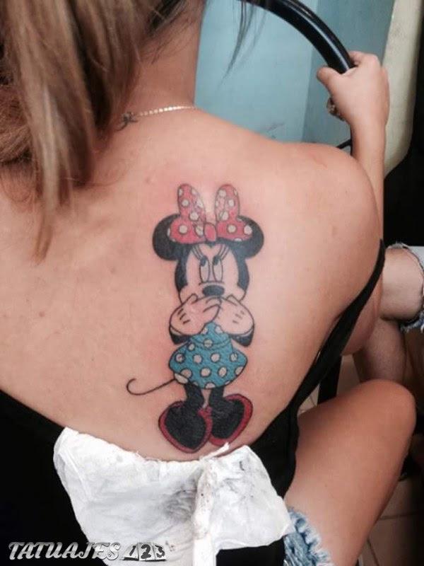 Caricatura Minnie Mouse Tatuajes 123