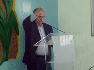 Presidente da Câmara durante posse em Ielmo Marinho, no RN (Foto: Luciano Pereira)