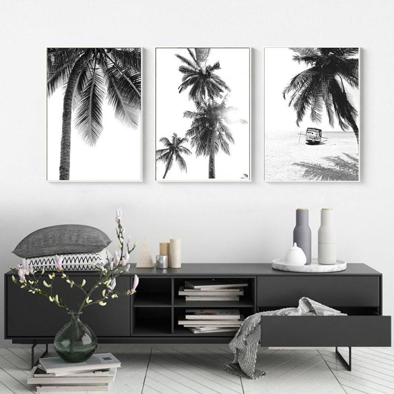 980 lukisan pemandangan pantai hitam putih Terbaru