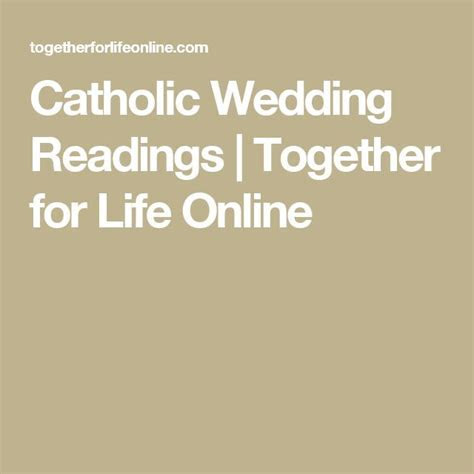 Best 20  Catholic wedding readings ideas on Pinterest