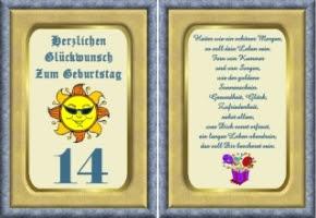 Lustige Geburtstagsgedichte 14 Jährige Geburtstagssprche