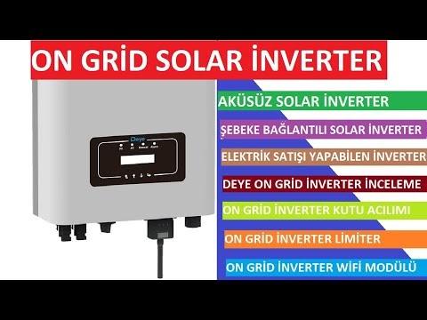 Şebekeye Bağlantılı On Grid Solar inverter Ürün İncelemesi | Deye on grid inverter kutu acılımı