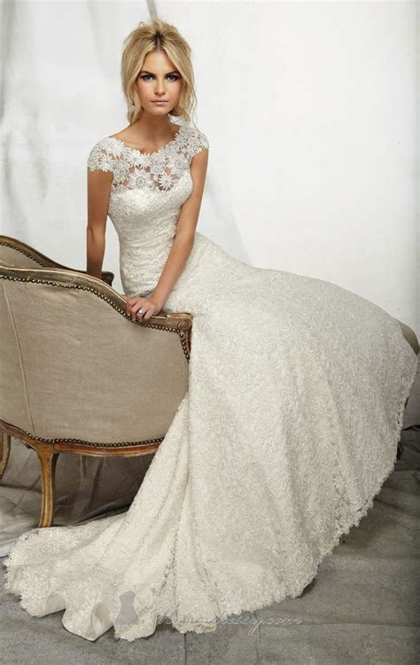 Venice Lace Gown by Angelina Faccenda by Mori Lee
