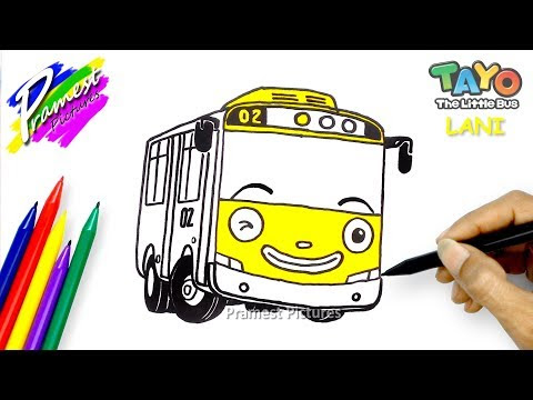 Download Lani Menggambar Mewarnai Gambar Tayo The Little Bus Mp3 Mp4