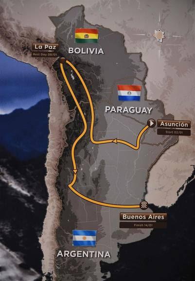 El recorrido será anunciado en noviembre pero este fue el mapa que mostraron en París este martes. (AFP)
