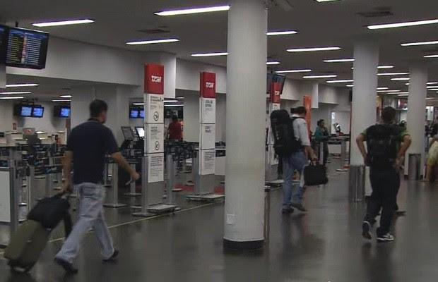 Movimento deve aumentar 8,5% no fim de ano no aeroporto de Goiânia, Goiás (Foto: Reprodução/TV Anhanguera)