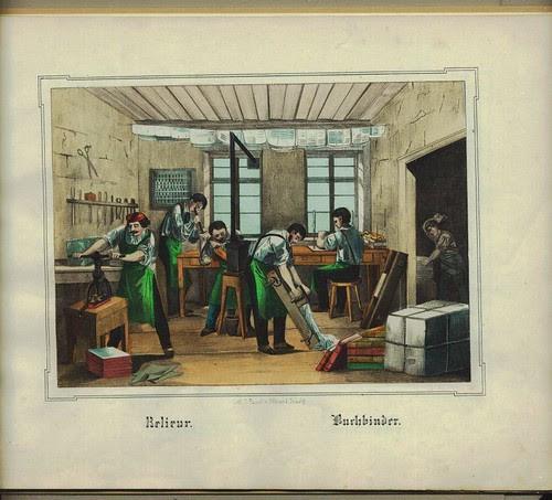 Bookbinder Les Arts & métiers en images - Tasoli + Ohlman, 1859 (digibib.tu-bs.de)