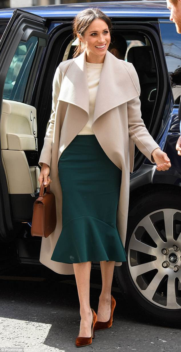 After Meghan wore the £310 skirt by Greta Constantine, it sold out in 12 hours