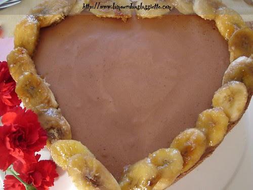 torta mousse chocolate banana