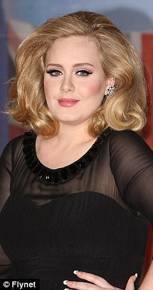 Grande sucesso: Adele impressionado com os britânicos com sua performance e olhar