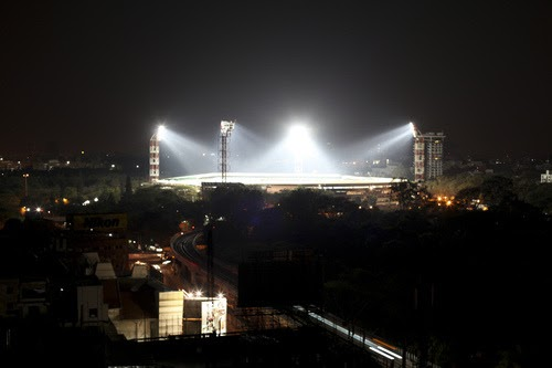 And god said let there be light! - The chinnaswamy stadium, Bangalore