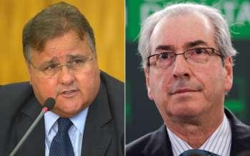 O ex-ministro Geddel Vieira Lima e o ex-deputado Eduardo Cunha (Foto: José Cruz/Agência Brasil; Marcelo Camargo/Agência Brasil)