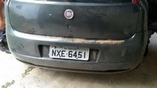 Veículo utilizado no  crime