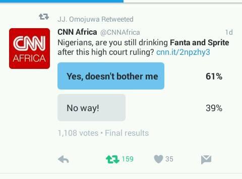 Nigerians Still Drinking Fanta And Sprite After High Court Ruling? - CNN Polls