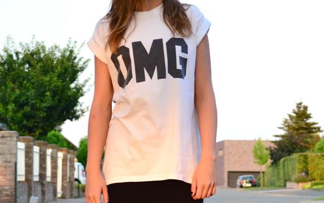 omg letter tee t-shirt detail close up shot nikon D3100 fashion blogger belgium detail topshop