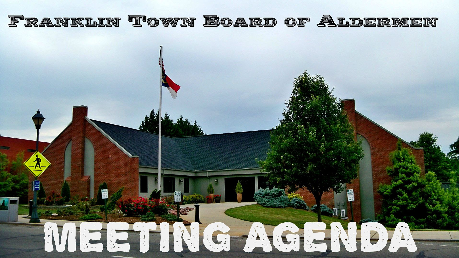 Franklin Aldermen Meeting Agenda  Photo and Titles by Bobby Coggins
