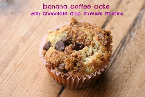 Banana Coffee Cake with Chocolate Chip Streusel Muffins