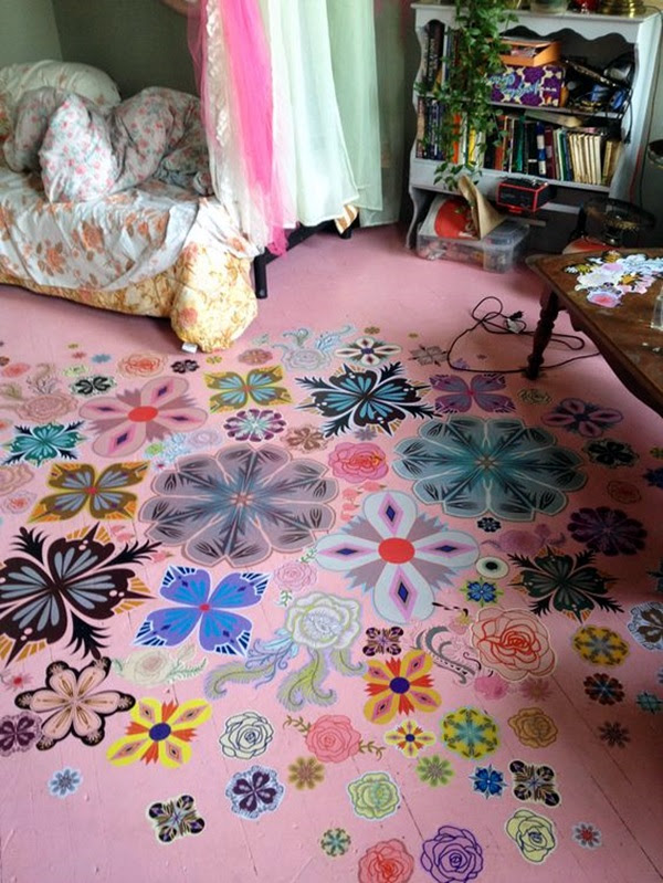 Creative Wood Floor Paint Decoration Art Works (3)
