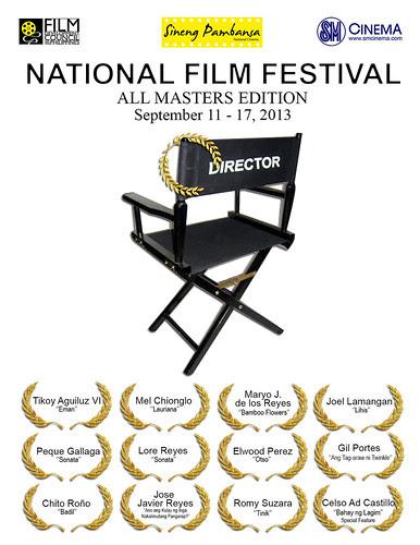 Sineng Pambansa National Film Festival 2013 – All-Masters Edition