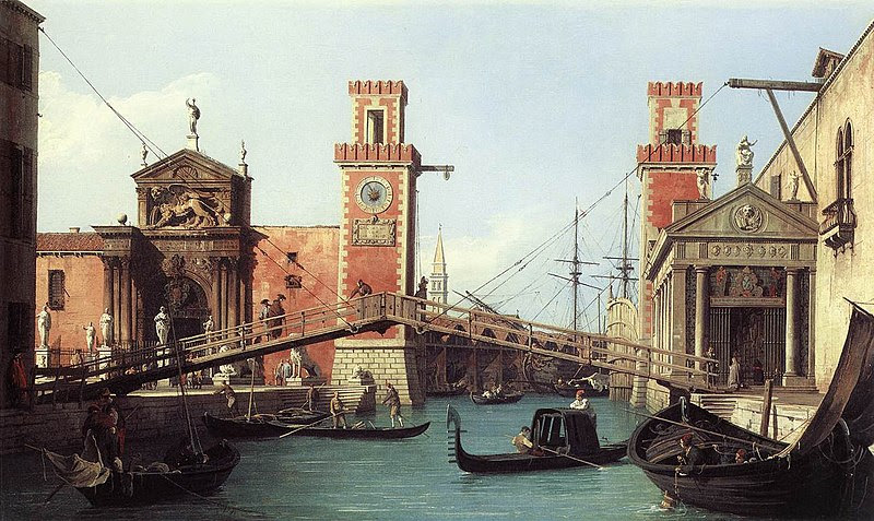 File:View of the entrance to the Arsenal by Canaletto, 1732.jpg