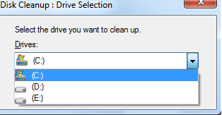 disk cleanup action