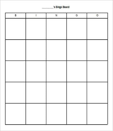 Bingo Card Template - 9+ Free Word, PDF, JPEG, Vector Format ...
