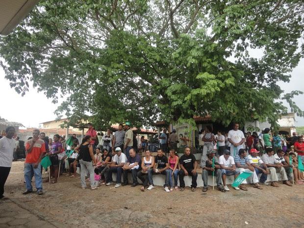 Agricultores de 32 áreas de conflito e assentamento protestam a favor da Reforma Agrária no Piauí (Foto: Catarina Costa / G1 PI)