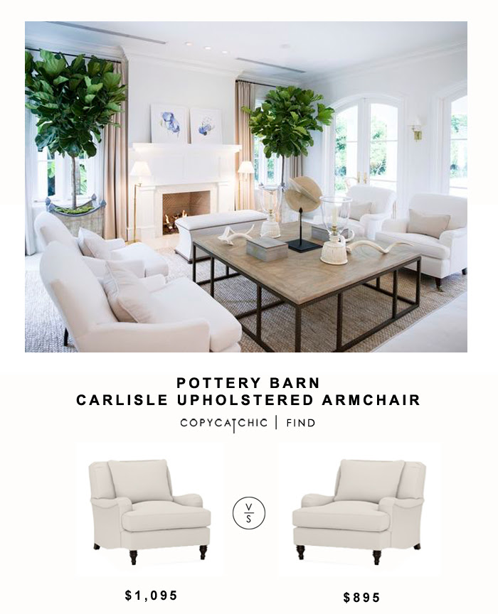 Pottery Barn Carlisle Upholstered Armchair Copycatchic