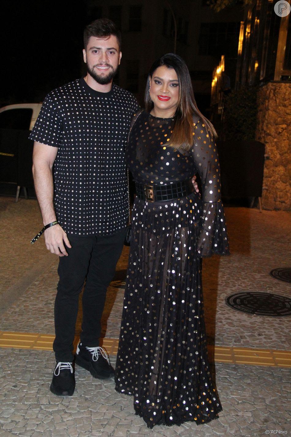 Preta Gil e o marido, Rodrigo Godoy, marcaram presença no aniversário de Marina Ruy Barbosa na noite deste sábado, 30 de junho de 2018