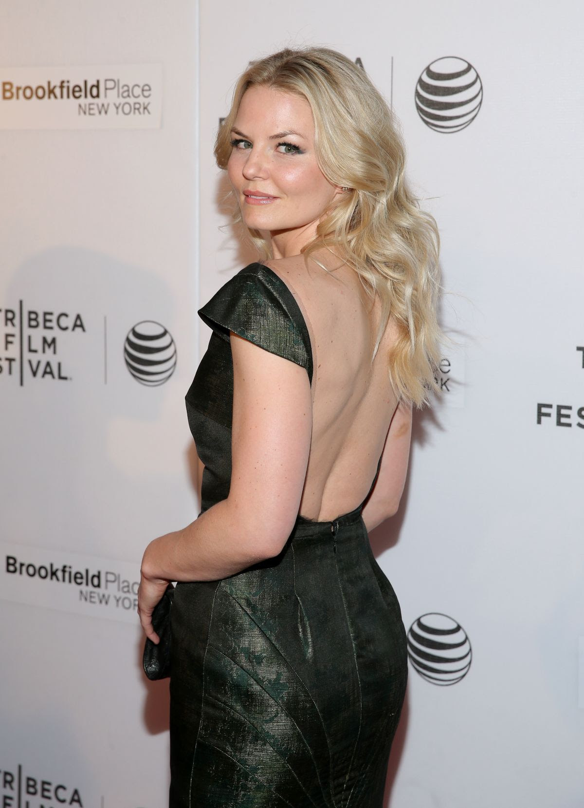 JENNIFER MORRISON at The Interference Shorts Program at Tribeca Film Festival in New York