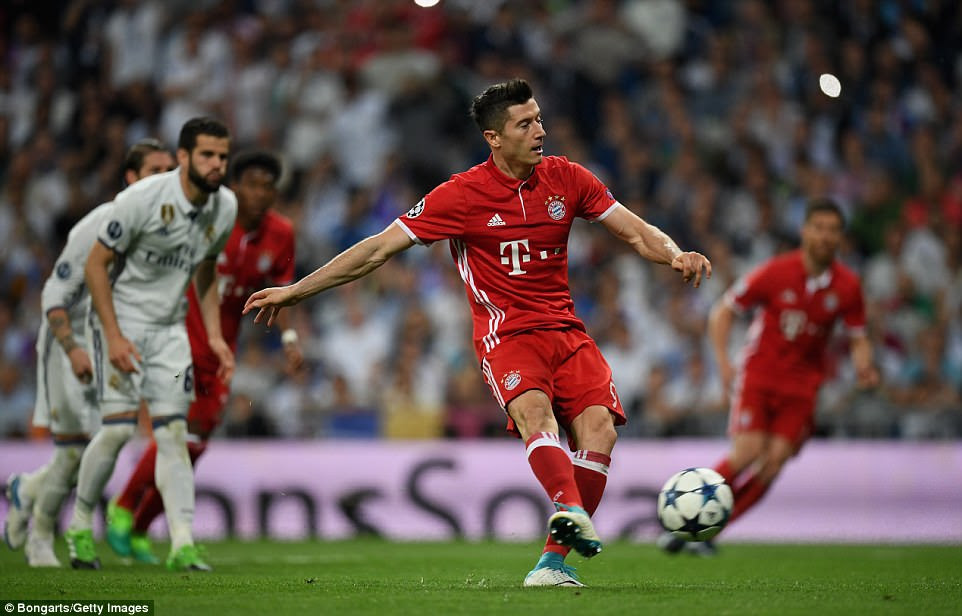 The striker put Bayern ahead on the night from the penalty spot but they would need another goal to win the tie