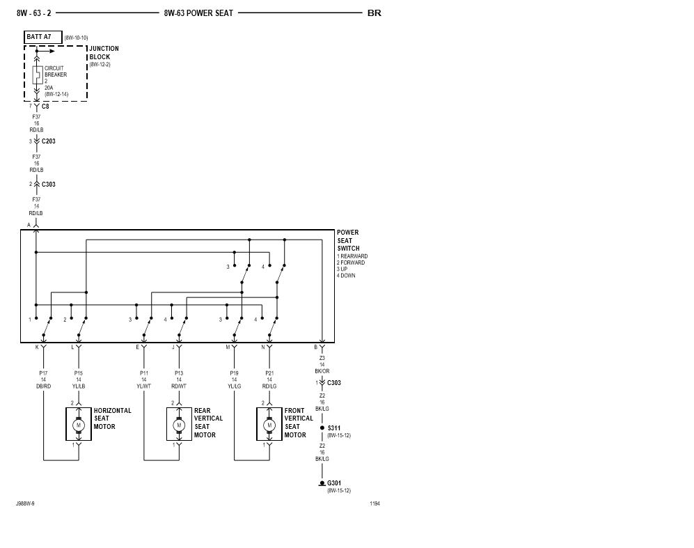 1998 Power Seat Diagram - Dodge Diesel - Diesel Truck ...
