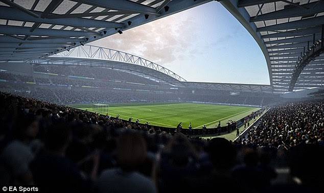 FIFA's huge list of stadiums continues to grow with grounds such as Brighton's Amex (above)