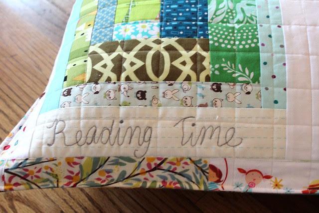 Rainbow Improv Floor Pillow- Reading Time!