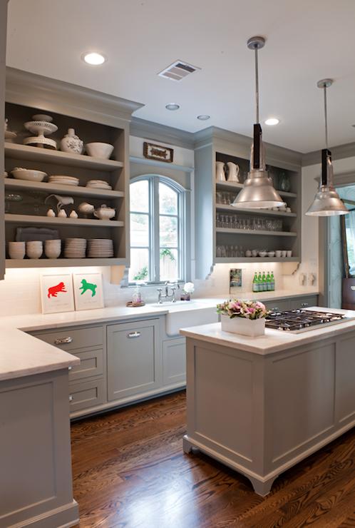 Gray Kitchen Cabinets - Transitional - kitchen - Benjamin Moore ...