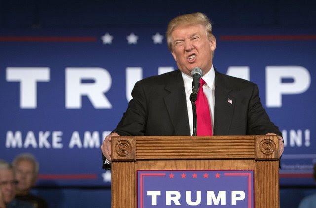 Donald Trump com careta blasé