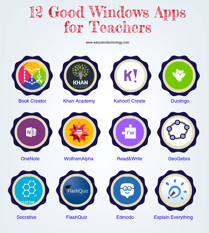 12 Good Windows Apps for Teachers
