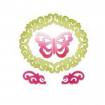 Butterfly, Flourishes & Frame by Rachel Bright