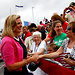 Ann Romney greeted supporters at a rally in August in Norfolk, Va. Because of network plans to televise the Republican National Convention on the final three nights, Mrs. Romney's speech will not be broadcast on any major network.