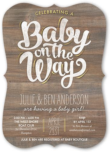 Baby On The Way 5x7 Baby Shower Invitations   Shutterfly