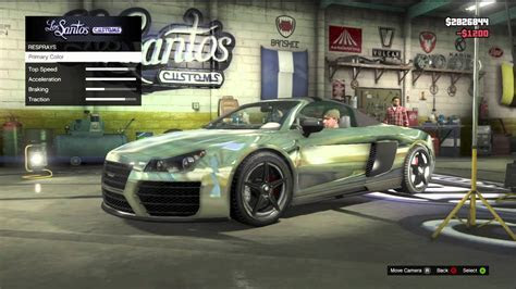 GTA 5 AUDI R8 FULLY CUSTOMIZED ALL CHROME GAMEPLAY REVIEW   YouTube