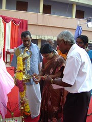Sri. Hanumata Rao, Treasurer, VRM & VK, Smt. K. Sasikala Chief Educational officer- Nagercoil with Principal Sri. S. Abraham Lingom