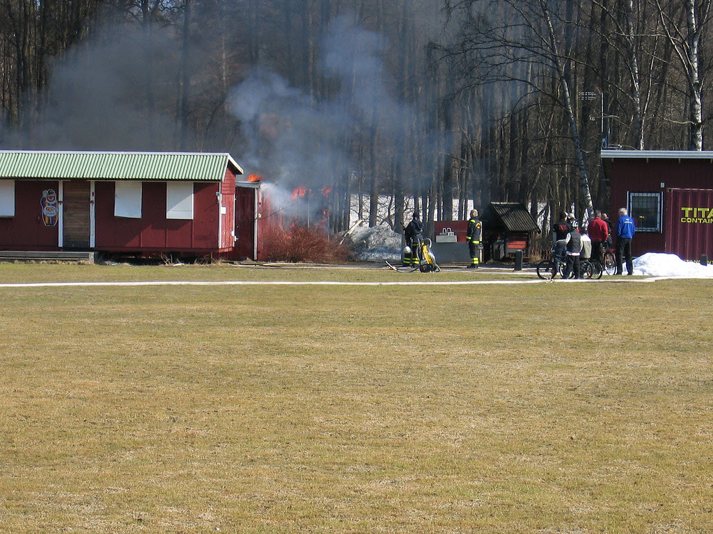Fire at the sports ground