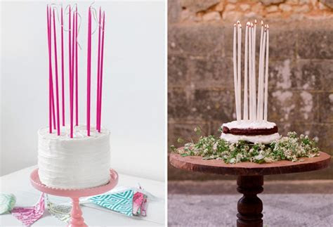 Candles on Wedding Cakes   A Romantic Alternative to Cake