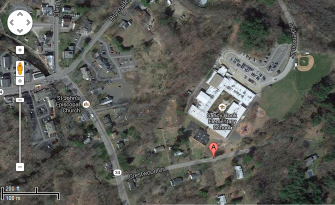 Sandy Hook Elementary School Map