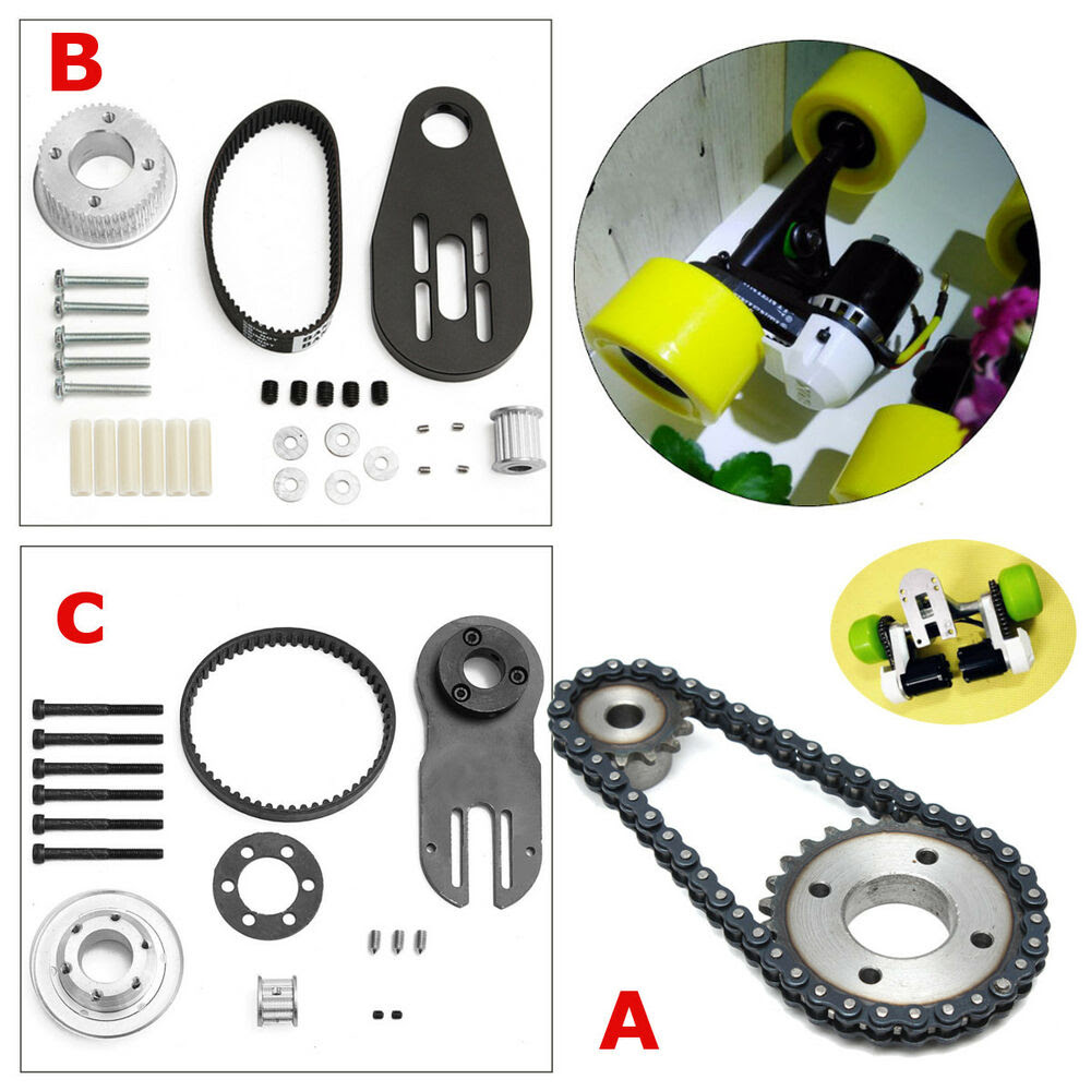 Electric Skateboard Parts Pulleys And Motor Mount Kit For 80mm 83\/90\/97mm Wheels  eBay