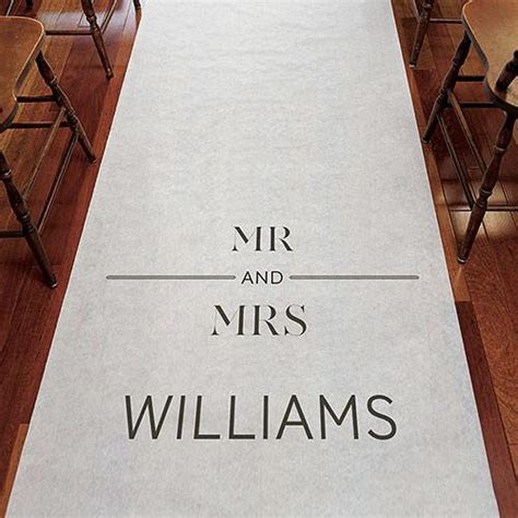 Mr and Mrs Personalized Wedding Aisle Runner ? Candy Cake